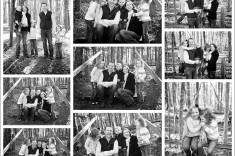 Black and White Family Portraits Outdoor in Winter Raleigh NC Photographer