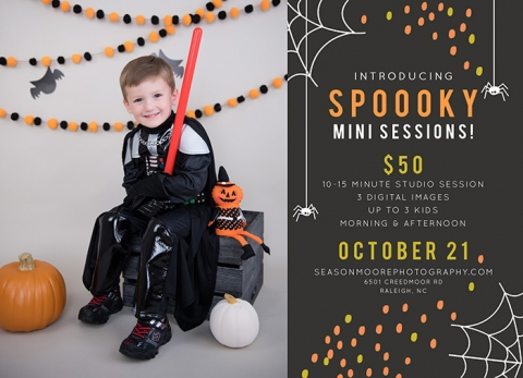 raleigh halloween mini sessions