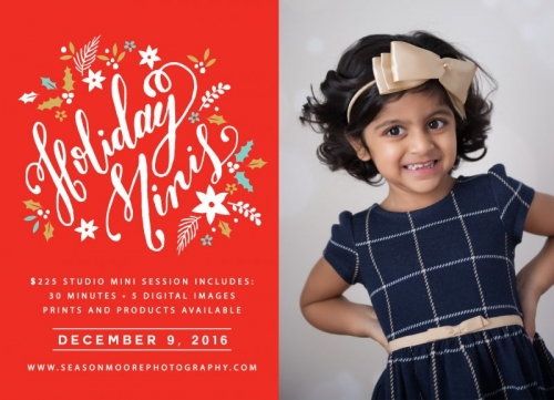 Holiday Mini Sessions Raleigh