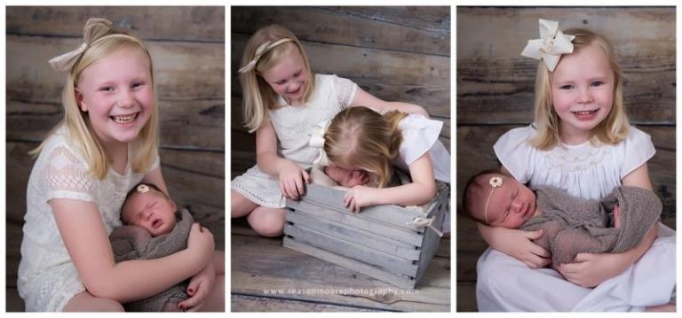 newborn baby girl raleigh nc big sisters