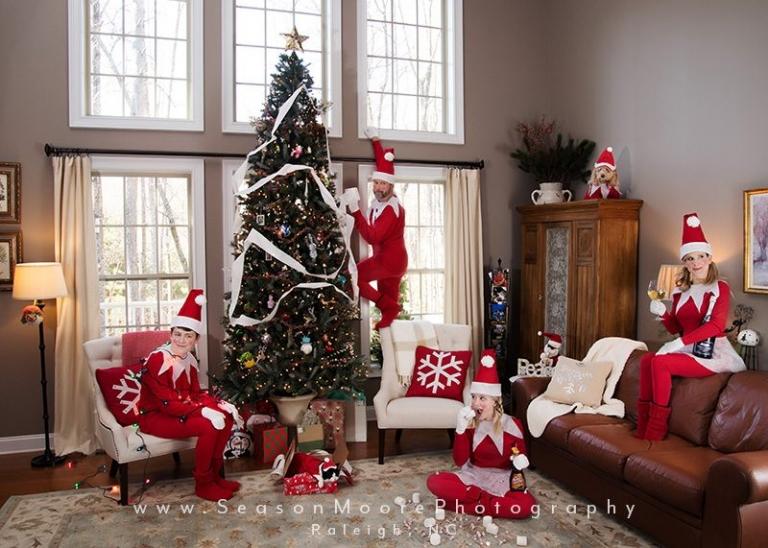 season moore photography elf shelf christmas card elfin themed costume
