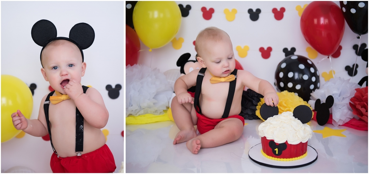 Ready To Post Boys 1st Birthday Cake Smash Outfit Mickey Mouse inspired